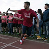 The 105th running of the Fitchburg Schools Relays were held at Crocker Field Thursday, May 16, 2019. Athletes from Fitchburg Public Schools run against one another (school vs. school, class vs. class). Senior Carlos Figueroa hands the baton to senior William Carrizo during their race against the juniors. SENTINEL & ENTERPRISE/JOHN LOVE