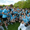 The 105th running of the Fitchburg Schools Relays were held at Crocker Field Thursday, May 16, 2019. Athletes from Fitchburg Public Schools run against one another (school vs. school, class vs. class). The sophomore class celebrate their victory over the freshmen class. SENTINEL & ENTERPRISE/JOHN LOVE