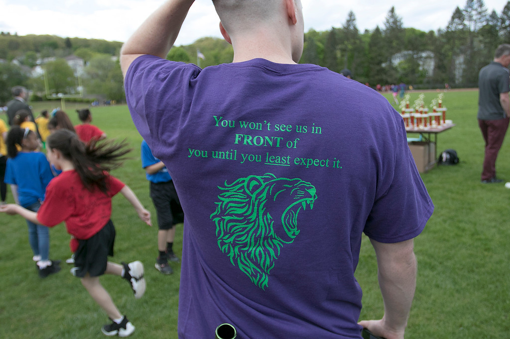 . The 105th running of the Fitchburg Schools Relays where held at Crocker Field Thursday, May 16, 2019. Athletes from Fitchburg Public Schools run against one another (school vs. school, class vs. class). SENTINEL & ENTERPRISE/JOHN LOVE