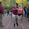 The 105th running of the Fitchburg Schools Relays were held at Crocker Field Thursday, May 16, 2019. Athletes from Fitchburg Public Schools run against one another (school vs. school, class vs. class). Senior Jesmary Melendez crosses the finish line for the win over the junior class. SENTINEL & ENTERPRISE/JOHN LOVE