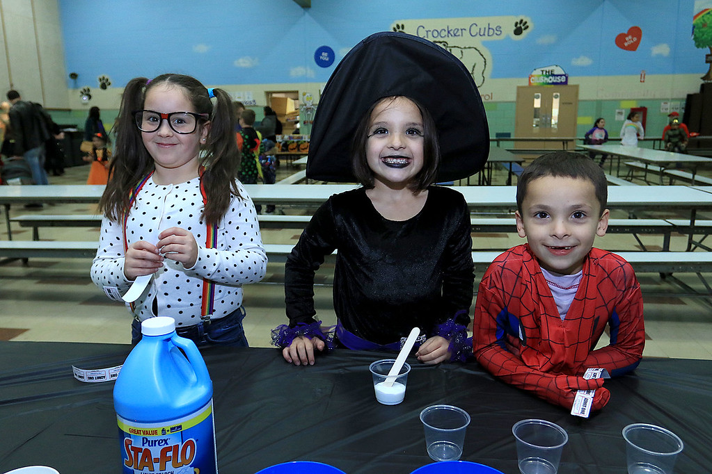 . The Crocker PTO hosted a Halloween Dance on Friday, October 19 2018 at Crocker Elementary School in Fitchburg. SENTINEL & ENTERPRISE/JOHN LOVE