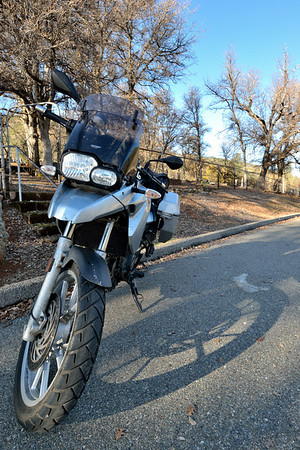 I went for a little moto ride, too, since it was nice and sunny (but chilly!).  Out to French Gulch to check out the old cemetery there.