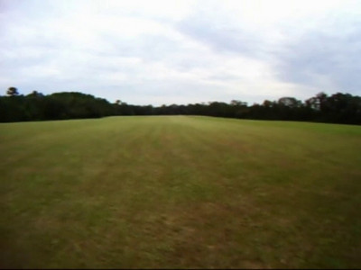 First half of the 5Km course - from the start to right at the 2.5Km point. The halfway point is behind the start line, off its north end. This helmetcam video uses a ~170 degree lens. Things are closer than they appear. I'm not going as fast as it may appear. The 5Km took 12:52 on this rigid (locked out) singlespeed 29er, geared 32X18. Gimme a 34X16 on this course! May still ride the Pugsley on race day - TBD. You may download this video, if it won't stream well. DOWNLOAD VIDEO now fixed - sorry! Should be ok format for iPod/Phone. Quality is limited by the crummy hardware plus my mangling plus SmugMug's compression and recoding.
