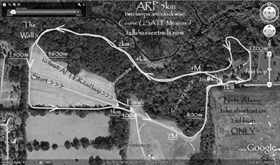 Revised course for 2010-2011! Prepared using this GPS track, modded with GPS Visualizer and Google Earth. Print this map and follow along while you're viewing the 2011 helmetcam video. Course change occurs at ~1km - 1200m. The abandoned diagonal first lap path is still visible between those two points. Still confused? Use the GPS track player function.