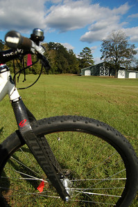 Looking across Wednesday's tire from the middle of the start line eastward toward the Barn.