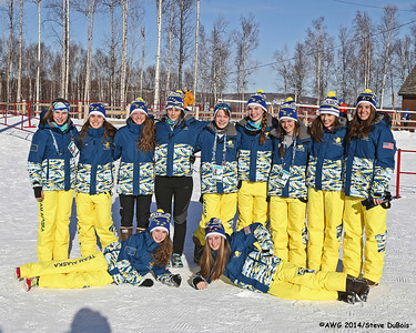 The girls Team Alaska xc ski team.