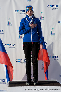 Girls cross-country sprint gold medalist