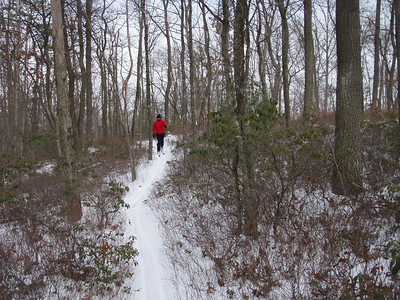 XC Skiing on the RCST singletrack trails