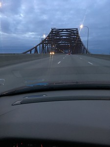 The Illinois River bridge, before Chicago mayhem
