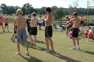 (One of 6 photos taken the afternoon before the race.)  Maclay boys looking tanned and rested.