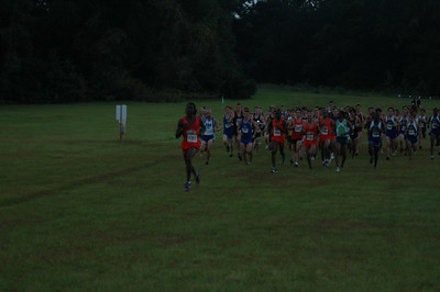 Men's 8K underway, and it's too dark to be using the 70-300mm f/4-5.6. Particularly if you left the ISO at 200!