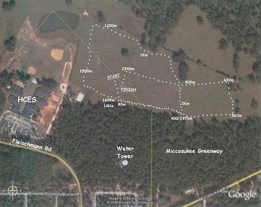 """HOLY COMFORTER XC COURSE The newest incarnation, for the THURSDAY, 14 September 1.5M race. We'll be back here for another meet on 28 September. Course starts at low point in field, left turn at ~80m, then run outer """"loop"""" anticlockwise to just past 1M. Continue straight till left turn onto """"inner loop."""" First left after 2k, then left again into finish area. If you expand this map, you may see I've used Xs for the outer loop, and heart shapes for the final ~half-mile inner loop."""