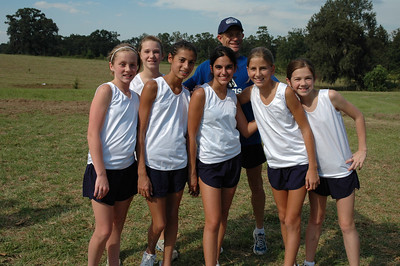 Today's Maclay Girls' MS team and Coach Gary Droze.