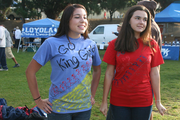 Jenna and Brittany (class of '07) show their school spirit!
