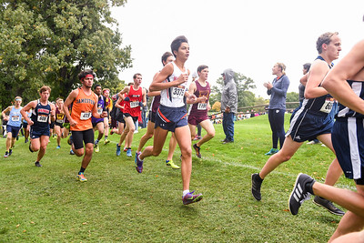 2018 - Macalester College Men Cross Country run at Roy Griak Invitational  -- Copyright Christopher Mitchell / SportShotPhoto.com