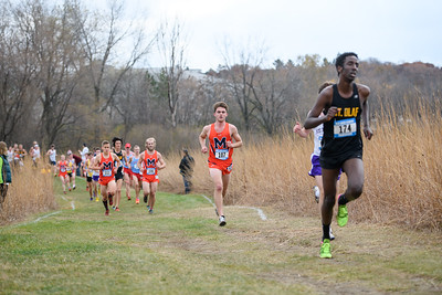 2018 - Macalester College Men Cross Country run at MIAC Conference Meet