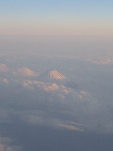 A view of Japan's Mt. Fuji as viewed from an airplane (credit: Doug Haney/U.S. Ski Team)