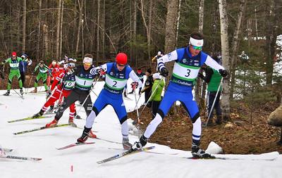 (closest to farthest) Tad Elliott, Noah Hoffman, Kris Freeman 2012 U.S. Cross Country Championships in Craftsbury, Vermont. Photo © Matt Whitcomb/U.S. Ski Team