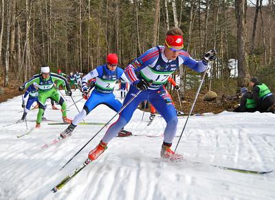 Simi Hamilton and Noah Hoffman 2012 U.S. Cross Country Championships in Craftsbury, Vermont. Photo © Matt Whitcomb/U.S. Ski Team
