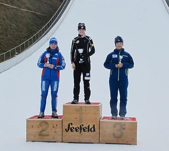 2011 FIS Cross Country Race, Seefeld AUT Women's podium, Liz Stephen, first place Photo: Bryan Fish/U.S. Ski Team