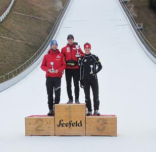 2011 FIS Cross Country Race, Seefeld AUT Men's podium, Noah Hoffman, second place Photo: Bryan Fish/U.S. Ski Team