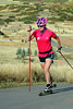 The U.S. Cross Country Ski Team's Jessie Diggins trains with roller skis on the Olympic trails at Soldier Hollow near Midway, Utah. (c) 2011 USSA/Tom Kelly