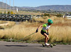 The U.S. Cross Country Ski Team athlete, Liz Stephen, trains with roller skis on the Olympic trails at Soldier Hollow near Midway, Utah <br /> Photo: Pete Vordenberg/U.S. Ski Team