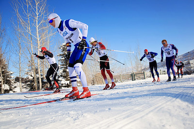 Classic sprints at the 2013 U.S. Cross Country Ski Championships on the Olympic trails at Soldier Hollow, Utah.  Photo: Sarah Brunson/U.S. Ski Team