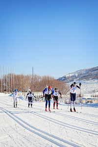 Eliska Hajkova, Kelsey Phinney, Becca Rorabaugh, Rose Kemp and Elizabeth Guiney Classic sprints at the 2013 U.S. Cross Country Ski Championships on the Olympic trails at Soldier Hollow, Utah.  Photo: Sarah Brunson/U.S. Ski Team