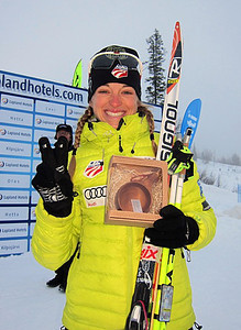 Liz Stephen was a proud second in the women's 10k skate in Muonio, Finland.