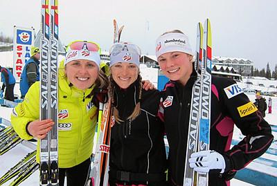 Three U.S. Ski Team in top 10 in women's 10k skate in Muonio, Finland including Holly Brooks, Liz Stephen and Jessie Diggins.