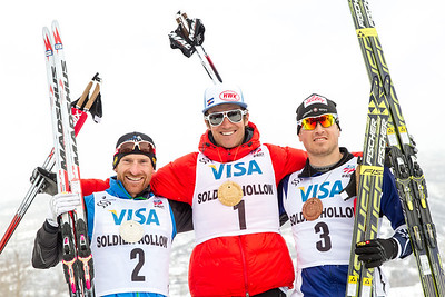 Brian Gregg (2nd), Sylvan Ellefson (1st) and Kris Freeman (3rd) 2014 U.S. Cross Country Championships Men's 30K Free Mass Start Photo: Sarah Brunson/U.S. Ski Team