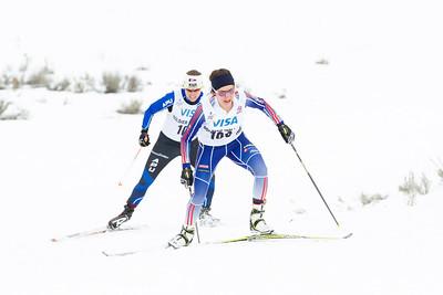 Chelsea Holmes leading 2014 U.S. Cross Country Championships Women's 20K Free Mass Start Photo: Sarah Brunson/U.S. Ski Team