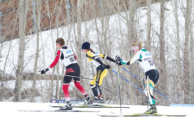(l-r) Elena Breed, Sarah Daniels, Hannah Boyer 2014 U.S. Cross Country Championships Women's 20K Free Mass Start Photo: Sarah Brunson/U.S. Ski Team