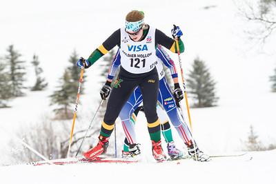 Linda Danvind-Malm leading 2014 U.S. Cross Country Championships Women's 20K Free Mass Start Photo: Sarah Brunson/U.S. Ski Team