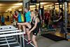 (l-r) Caitlin Gregg, Kikkan Randall, Liz Stephen<br /> 2015 U.S. Cross Country Ski Team Summer Camp<br /> Strength training at the Center of Excellence<br /> Photo: USSA