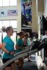 Caitlin Gregg, Ida Sargent, Liz Stephen, Jessie Diggins<br /> 2015 U.S. Cross Country Ski Team Summer Camp<br /> Strength training at the Center of Excellence<br /> Photo: USSA