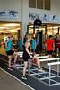 Kikkan Randall, Liz Stephen<br /> 2015 U.S. Cross Country Ski Team Summer Camp<br /> Strength training at the Center of Excellence<br /> Photo: USSA