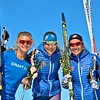 Jessie Diggins, Ida Sargent, Sophie Caldwell<br /> 2016 U.S. Cross Country Ski Team New Zealand Camp<br /> Photo: Matt Whitcomb/U.S. Ski Team
