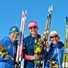 Ida Sargent, Jessie Diggins, Sophie Caldwell<br /> 2016 U.S. Cross Country Ski Team New Zealand Camp<br /> Photo: Matt Whitcomb/U.S. Ski Team