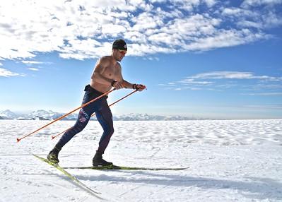 Simi Hamilton 2016 U.S. Cross Country Ski Team Alaska Camp Photo: Matt Whitcomb/U.S. Ski Team