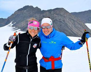 Liz Stephen (l) 2016 U.S. Cross Country Ski Team Alaska Camp Photo: Matt Whitcomb/U.S. Ski Team