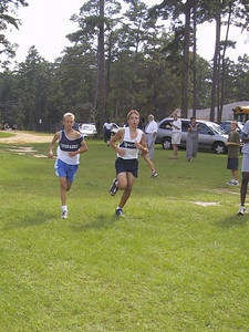 13 September 2001 Tim and Casey finish lap one.