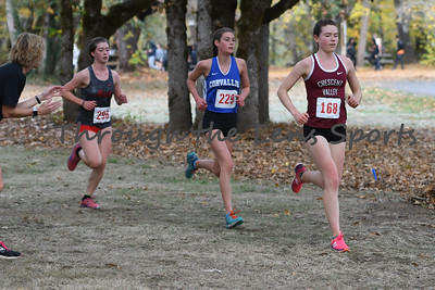 Sophie Fisher 168 of Crescent Valley won the 5A MWC District Cross Country State Championship