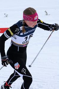 Ida Sargent ski in the women's 10k classic at 2011 Nordic World Ski Championships at Holmenkollen in Oslo, Norway, (c) 2011 U.S. Ski Team