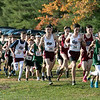 The boys and girls Mid Wach League Cross Country Championships where held at Hollis Hill Farm in Fitchburg Saturday, Oct. 26, 2019. The start of the Division B boys race. SENTINEL & ENTERPRISE/JOHN LOVE