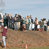 The boys and girls Mid Wach League Cross Country Championships where held at Hollis Hill Farm in Fitchburg Saturday, Oct. 26, 2019. Fans watch the race. SENTINEL & ENTERPRISE/JOHN LOVE
