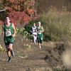 The boys and girls Mid Wach League Cross Country Championships where held at Hollis Hill Farm in Fitchburg Saturday, Oct. 26, 2019. Nashoba Regional High School's #375 Cole Clericuzio. SENTINEL & ENTERPRISE/JOHN LOVE