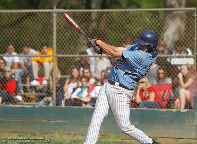 Pleasant Valley's Thomas Wasson during a baseball game between Pleasant Valley and Chico High School Tuesday April 12, 2016 at Hooker Oak Park in Chico, Calif. (Emily Bertolino -- Enterprise-Record)