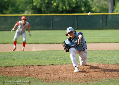 Pleasant Valley's Zac Billingsley during a baseball game between Pleasant Valley and Chico High School Tuesday April 12, 2016 at Hooker Oak Park in Chico, Calif. (Emily Bertolino -- Enterprise-Record)